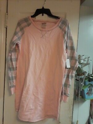 NEW JOE BOXER PINK GRAY  NIGHTGOWN size M Medium JUNIOR WOMEN pj PAJAMA NWT $28