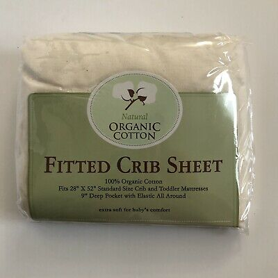 TL Care Knit Fitted Crib Sheet Made with Organic Cotton in Natural