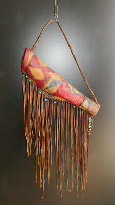 Vintage original Native american quiver, handpainted, Köcher, 50,0 cm