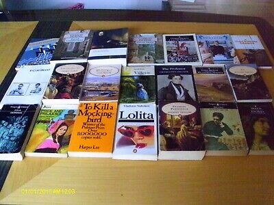 CLASSIC BOOKS x 21 - DICKENS, BRONTE, ZOLA + OTHERS - MOSTLY PAPERBACK