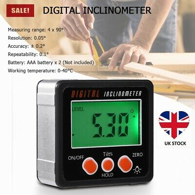 Magnetic Digital Inclinometer Level Box Gauge Angle Meter Finder Protractor GB