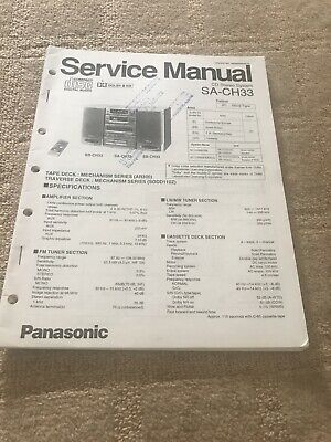 Panasonic  SA-CH33  CD Stereo System    Service Manual