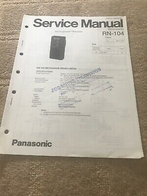 Panasonic  RN-104 Microcassette Recorder   Service Manual