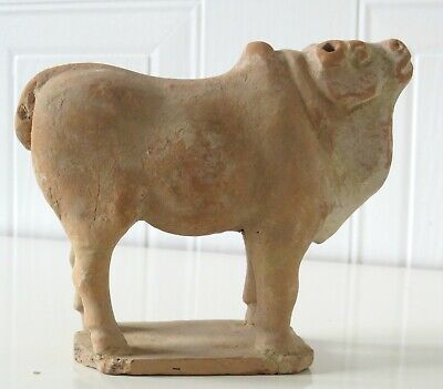 Chinese Tang Dynasty's Pottery Bull