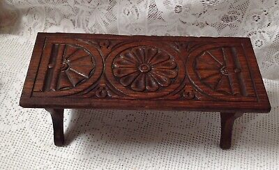 Georgian 18th Century Unusual Folding Tea Pot Stand, Hand Carved