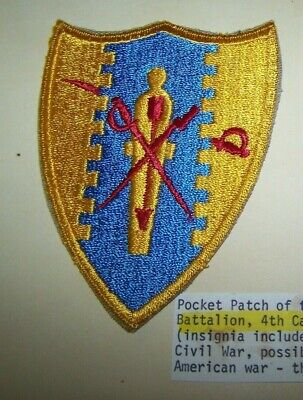 Ww2 Army Shoulder Patch, 1St Recon 4Th Cavalry Division, U.s. Issue *Nice*