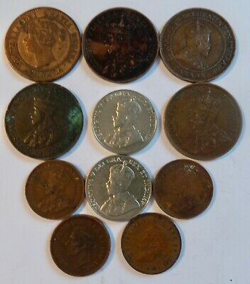 Collection Of Vintage Canada Coins - Victoria, George V & George Vi