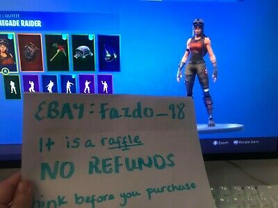 Renegade Raider + Black knight Fortnite RAFFLE  *Dont Ask For Email And pass*