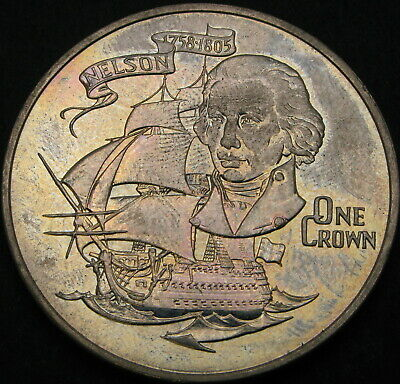 GIBRALTAR 1 Crown 1980 - Admiral Lord Nelson - aUNC - 1434 ¤