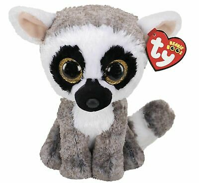 Official Ty Beanie Babies Boos Linus Lemur Plush Soft Toy New With Tag