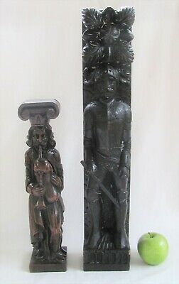 Large 19th c. Caryatid-Knight in Armor-NR