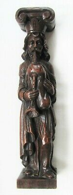 19th c. Caryatid-Carving of a Bagpiper-NR