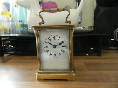 Carriage Clock Working Order For Spares With Key
