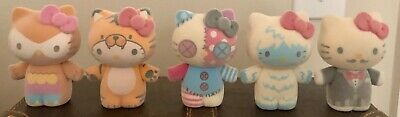 """HELLO KITTY Sanrio Collectable Flocked 3"""" inch Figures Set of 5 Urban Outfitters"""