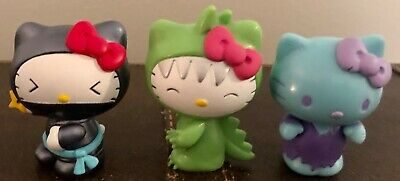 "Hello Kitty Sanrio Costume Collection Mini Figure Set Toy - 2"" tall"