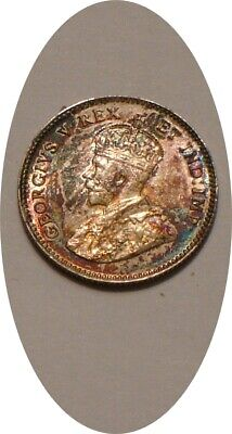 1911 Silver 5¢ Five Cents of Canada Choice BU Rainbow Colorful Tones
