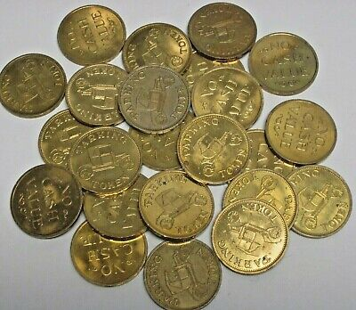 Lot of 500 Circulated Parking Tokens