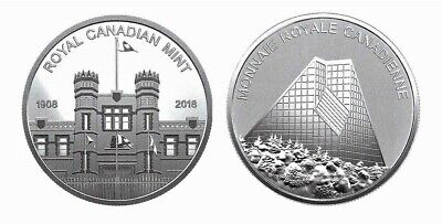 2018 & 2019 RCM Building & Maple Leaf Pure Silver Medallions from PROOF Sets