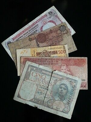 Lot of 10 Circulated Banknotes. AFRICA