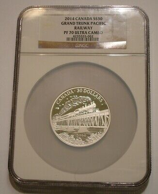 2014 2 oz Silver $30 GRAND TRUNK PACIFIC RAILWAY of Canada NGC PF 70 ULTRA CAMEO