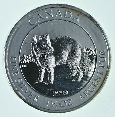 2014 1.5 oz Canada Silver Arctic Fox 8 Coin .9999 Fine Brilliant UNC *720