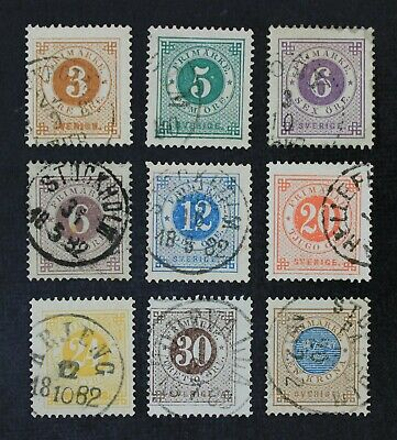 CKStamps: Sweden Stamps Collection Scott#28//38 Used