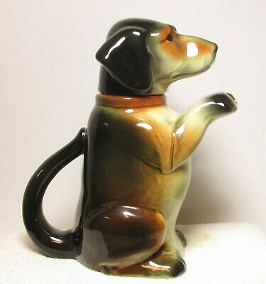 Awesome Us Zone Germany Dachshund Porcelain Teapot - Must See !!!