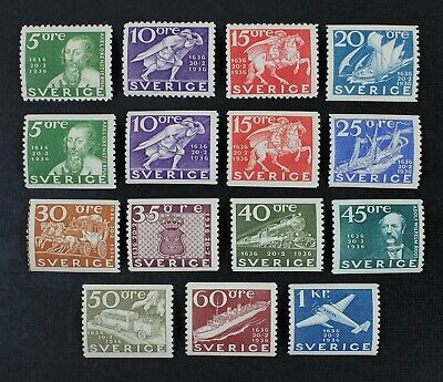 CKStamps: Sweden Stamps Collection Scott#248-262 Mint LH OG