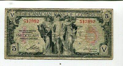 Canada The Canadian Bank Of Commerce 5 Dollars 1935F+ Nrf 45.00