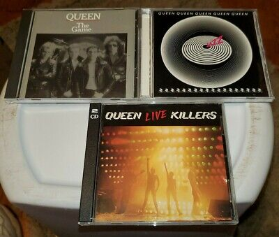 Queen 3 CD Lot: The Game, Jazz, Live Killers
