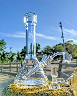 """Premium Quality 8"""" Glass Water Pipe Rig Hookah Bong Fast Free Shipping Return"""
