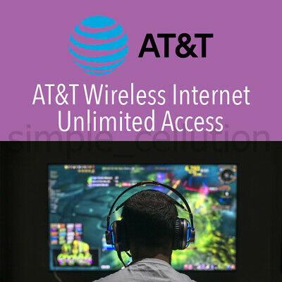 AT&T Unlimited 4G LTE 5G No Contract Data Plan Monthly Rental for Home Network +