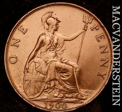 Great Britain: 1900 One Penny - Scarce  Better Date  #NR6795