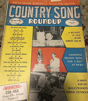 Country Song Roundup- Number 41 - 1955 - Simon Crum - Faron Young