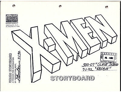 X-MEN The Animated series RARE storyboards for the episode titled SLAVE ISLAND