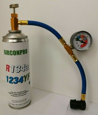 CAR Aircon Refill Regas Air Conditioning Top up R134A Gas hose replacement 500gr