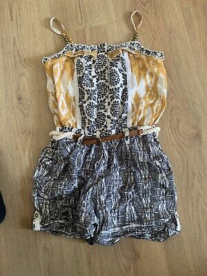 Next Girls Playsuit 9 Years 8-9 Pattern Outfit Summer All In One