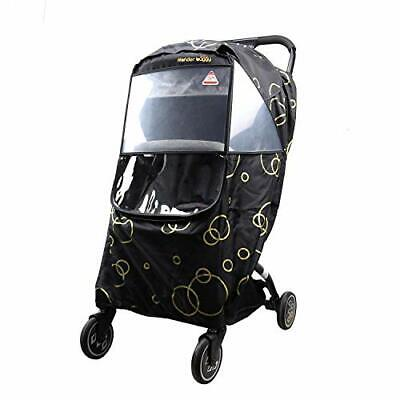 Wonder buggy Universal Stroller Weather Shield Rain Cover with (Black)