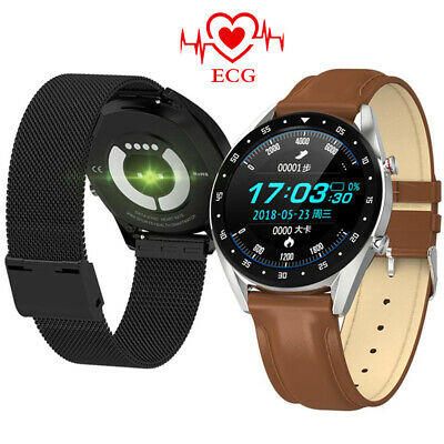 Bluetooth Smart Watch ECG Heart Rate Monitor Luxury Smartband For iOS Android