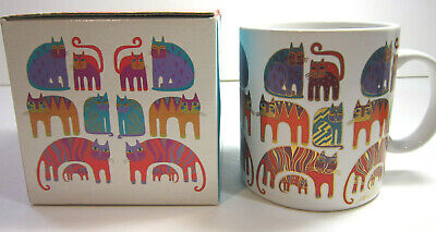 Laurel Burch Fantastic Felines Coffee Mug With Gift Box Excellent Condition