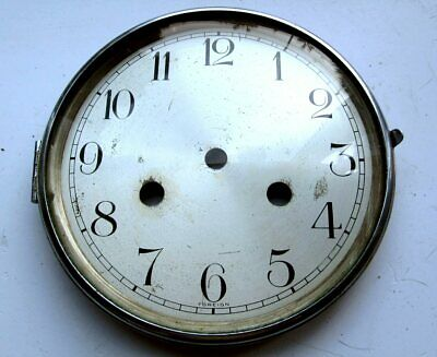Vintage Haller German Mantle Clock Dial + Bezel + Glass