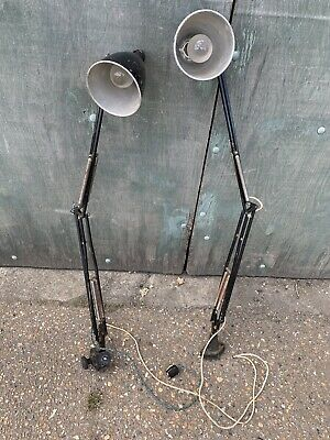 2 Herbert Terry Industrial Anglepoise Spotlights For Restoration