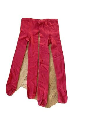 M&S Red Tights x2 Pairs 6-7 Years