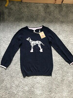 NEW Joules Cotton Jumper 7-8Yrs Sweatshirt Top BNWT Warm Cosy Dog Lovers Welling