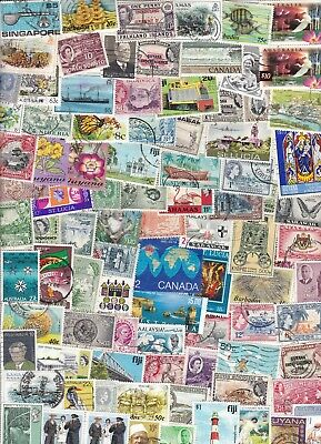 British Commonwealth Collection/Accumulation 750++ Used Stamps
