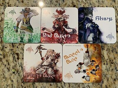Final Fantasy XIV Eorzea Cafe Official Collectible Coasters set of 5