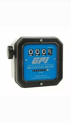 GPI Flowmeter,Mechanical,3/4 In,30gpm, MR 5-30-G6N