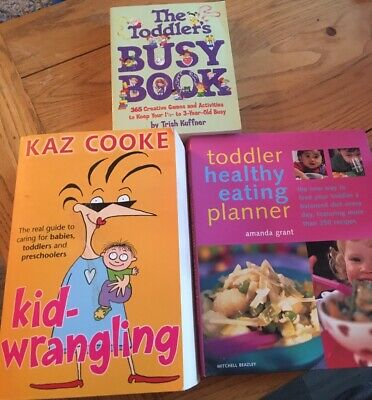 4 parenting books about toddlers, entertainment, advice and cookery