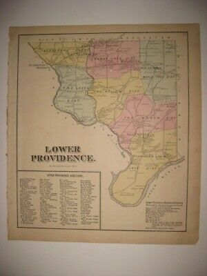 Antique 1871 Lower Providence Township Pennsylvania Montgomery County Map Fine