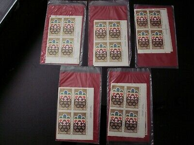 Canada - #624 15 Cent Olympic Symbols (5) Packs Of  Matched Set Of Pb's Mnh-Vf